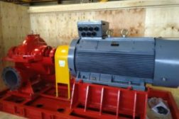 500kW pumpe for slukkeanlegg med skum.